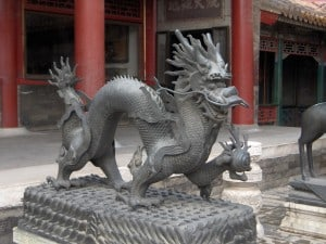 Dragon statue from the Forbidden City in China