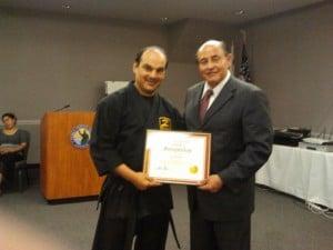 Master Diaz and State Senator Lou Correa