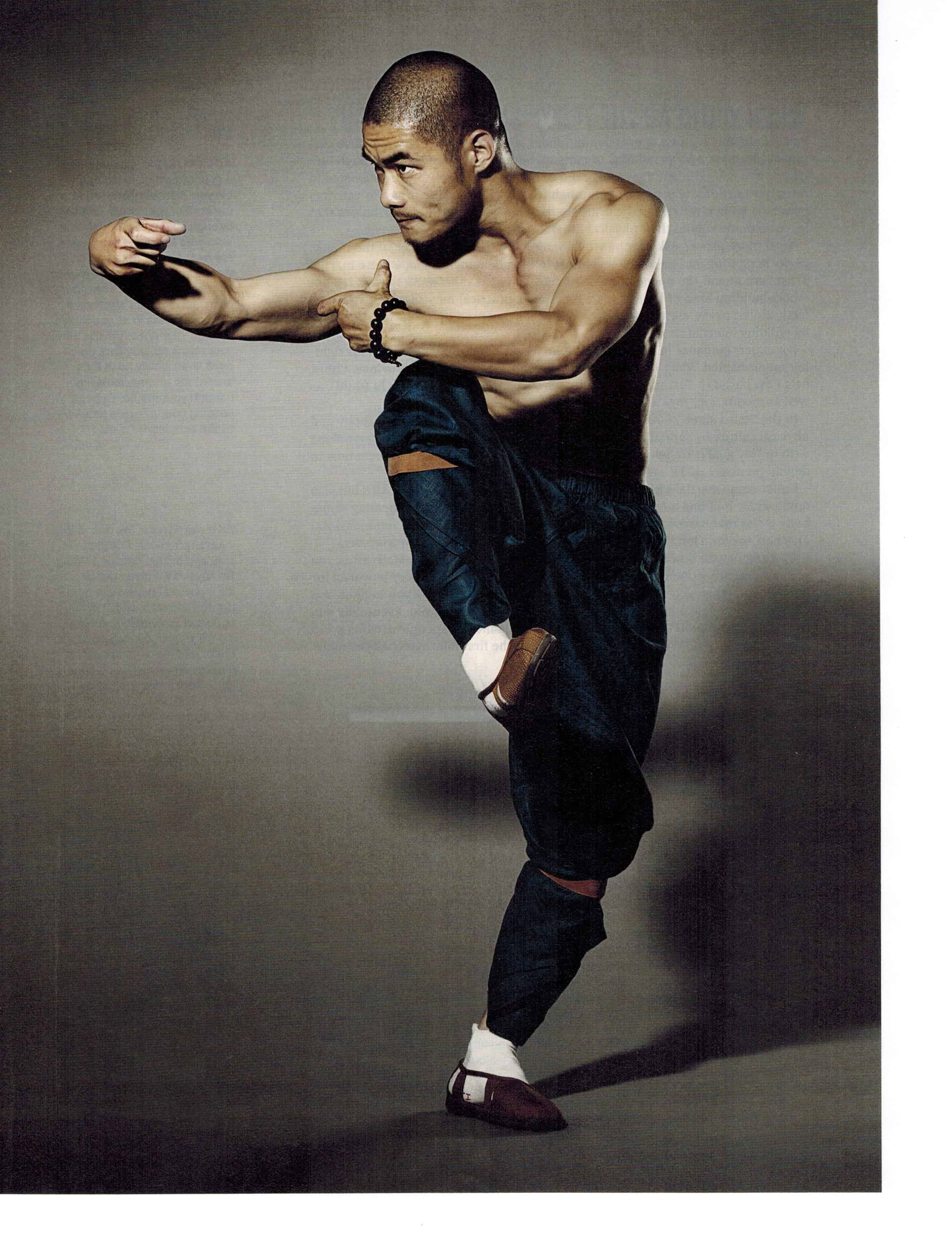 Shaolin Martial Arts Monk Wang Bo On Cover Of Black Belt