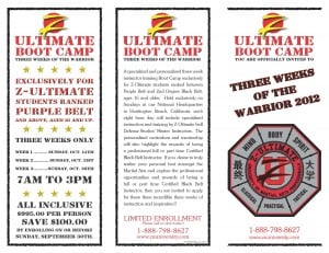 Three Weeks of the Warrior Boot Camp Program Brochure
