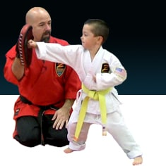 Black Belt teaching private martial arts class