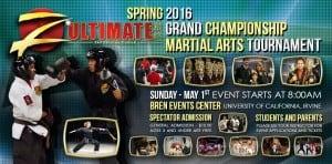 Z-Ultimate Self Defense Studios Spring 2016 Martial Arts Tournament Poster