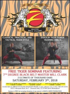 Martial Arts Tiger Seminar with Master Will Clark
