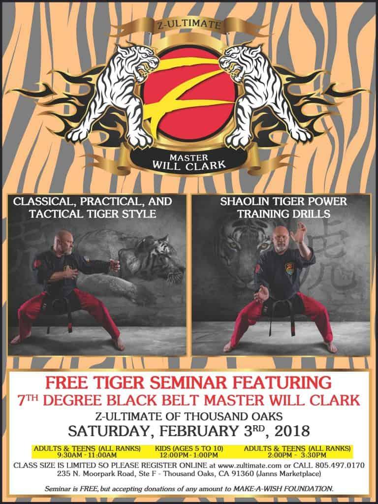 Martial Arts Tiger Seminar with Master Will Clark